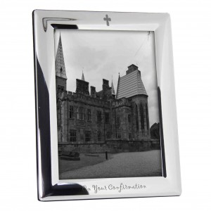 Silver Plated 5x7 On Your Confirmation Photo Frame
