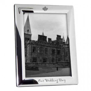 On Our Wedding Day 5x7 Photo Frame