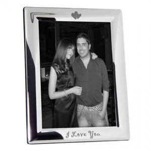 Silver Plated 5x7 I Love You Photo Frame