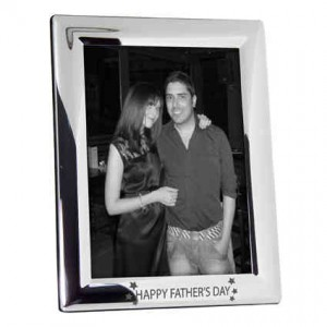 Happy Fathers Day Stars 5x7 Photo Frame