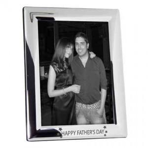 Happy Fathers Day Stars 5x7 Photo Frame