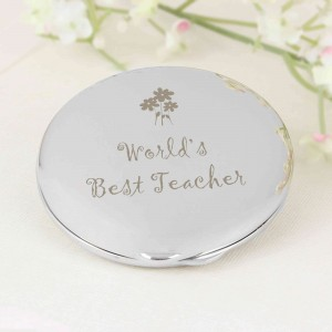 World's Best Teacher Round Compact