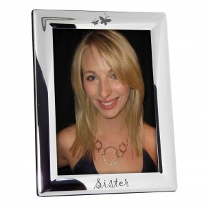 Silver Plated 5x7 Sister Photo Frame
