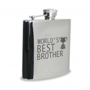 Worlds Best Brother Hip Flask
