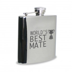 Worlds Best Mate Hip Flask
