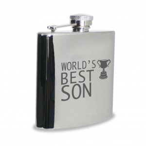 Worlds Best Son Hip Flask