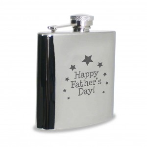 Happy Fathers Day Hip Flask