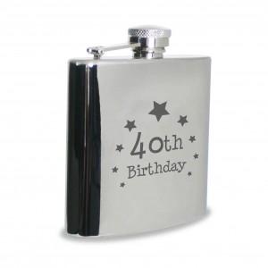 40th Birthday Hip Flask
