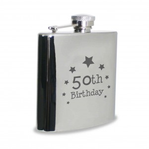 50th Birthday Hip Flask