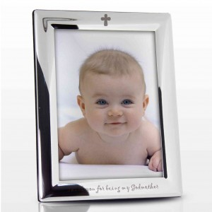 Silver Plated 5x7 Godmother Photo Frame