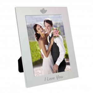 Silver 5x7 I Love You Photo Frame