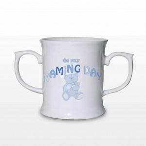 Teddy Naming Day Loving Mug Blue