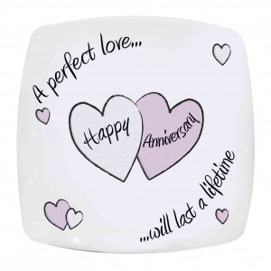 Perfect Love Anniversary Plate