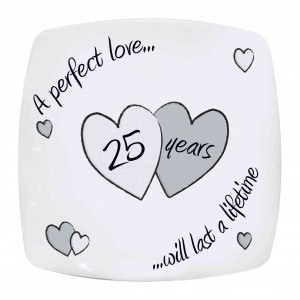 Perfect Love Silver Anniversary Plate
