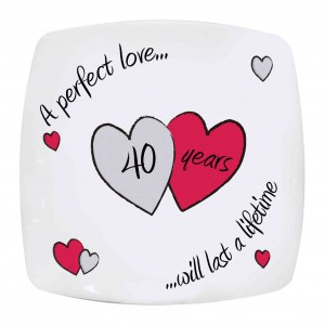 Perfect Love Ruby Anniversary Plate
