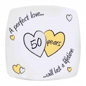 Perfect Love Golden Anniversary Plate