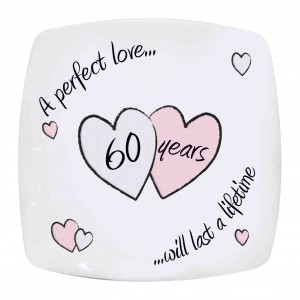 Perfect Love Diamond Anniversry Plate