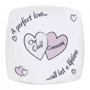 Perfect Love Civil Ceremony Plate