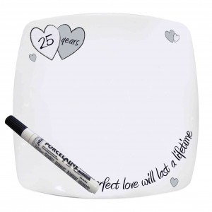 Perfect Love Silver Message Plate