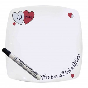 Perfect Love Ruby Message Plate