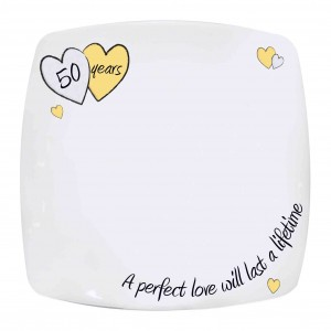 Perfect Love Golden Message Plate