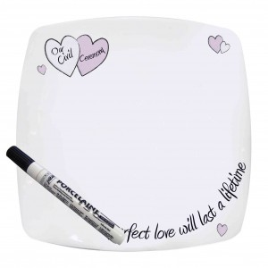 Perfect Love Civil Ceremony Message Plate