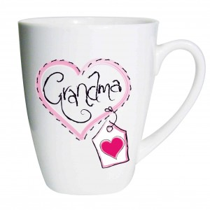 Grandma Heart Stitch Latte Mug