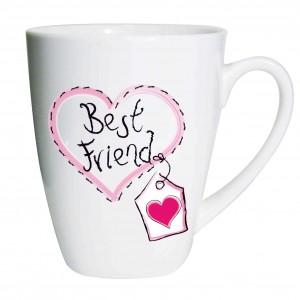 Best Friend Heart Latte Mug