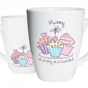 Mummy Trio Cupcake Latte Mug