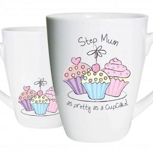 Step Mum Trio Cupcake Latte Mug