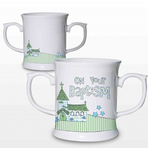 Baptism Blue Church Loving Mug