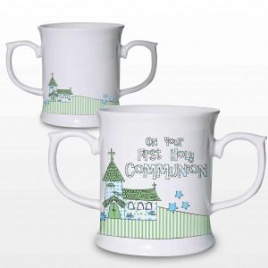 Blue First Holy Communion Church Loving Mug