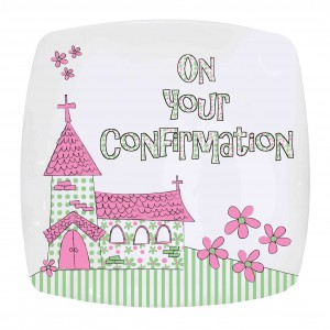 Pink Confirmation Church Plate