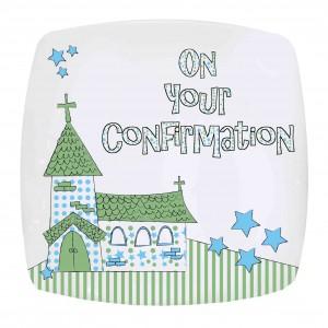 Blue Confirmation Church Plate