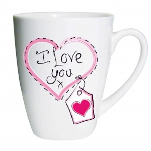 Heart Stitch I Love You Latte Mug