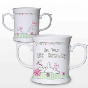 Whimsical Pram 1st Birthday Loving Mug