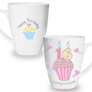 Cupcake 16th Birthday Latte Mug