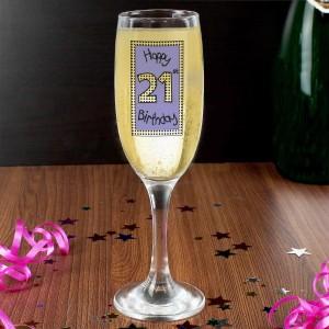 Lilac 21st Happy Birthday Flute