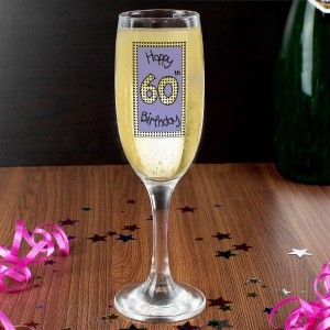 Lilac 60th Happy Birthday Flute