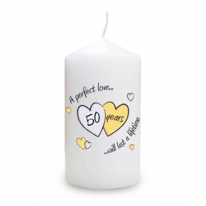 Perfect Love Golden Candle