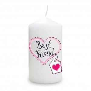 Best Friend Heart Stitch Candle