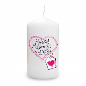 Heart Stitch Happy Mummy's Day Candle