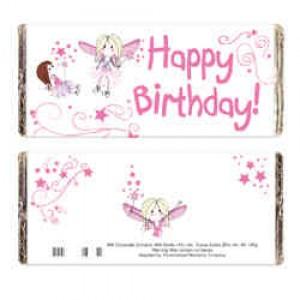 Fairy Birthday Milk Chocolate Bar