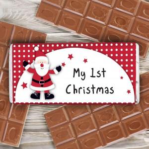 Spotty Santa Milk Chocolate Bar