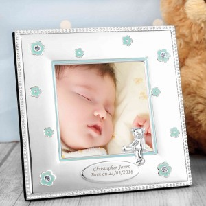 Blue Flowers 3x3 Photo Frame