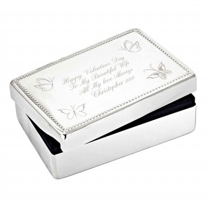 Butterfly Rectangular Jewellery Box