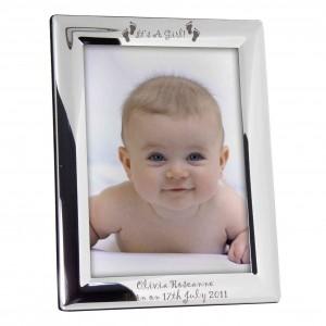 Its a Girl Footprints 5x7 Photo Frame