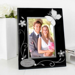 Black Butterfly 6x4 Photo Frame