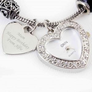 Black Watch Charm Bracelet 21cm