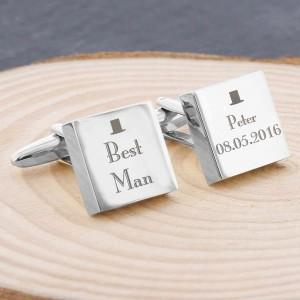 Decorative Wedding Best Man Square Cufflinks